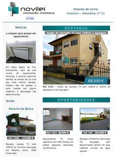 Newsletter nº 21 do dia 02 de Fevereiro - Imóveis de Leiria  #news #newsletter #imoveis #imobiliaria #realestate #leiria #novilei