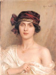 Albert Lynch, Portrait of a Young Lady, 1890s by Gatochy, via Flickr