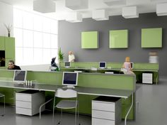 Open Office Interior Design And Furniture Interior Smart White Gray Small Office Design Color Schemes Modern Long Table Computer Storage Open Plan Floor Ideas Stylized Layout Decoration With Astonishing Modern Office Space Design Ideas, Kids Interior, Interior Design Pictures, Office Interior Design, Office Interiors, Workspace Design, Interior Modern, Design Offices, Grey Interiors, Modern Offices