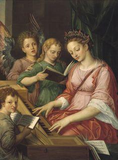 """""""Santa Cecilia"""", Michiel Coxcie (1569)"""