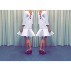 """Neoprene dress by Coo Culte"""
