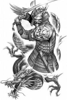 Japan Tattoo Design, Oriental, Tattoo Designs, Tattoos, Chicano Drawings, Drawings Pinterest, Samurai Art, Storage, Tatuajes