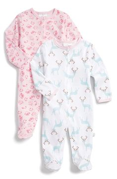 Free shipping and returns on ROSIE POPE Graphic Cotton One-Piece (Set of 2) (Baby Girls) at Nordstrom.com. A charming allover print defines a pair of coo-inducing one-pieces fashioned with fold-over cuffs to protect against accidental scratches.
