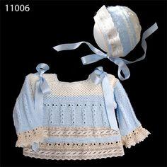 Labores para bebé. Baby handmade works. Baby Knitting Patterns, Baby Patterns, Crochet Patterns, Crochet Baby, Knit Crochet, Crochet Shoes, Knitwear, Baby Kids, Clothes