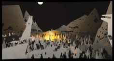 Animation Reference: Wolves. Cut out landscape