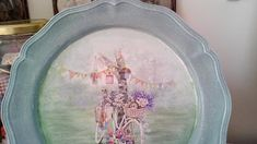 something to create: Decoupage με λίγο ζωγραφική Decoupage, Tableware, Dinnerware, Tablewares, Dishes, Place Settings