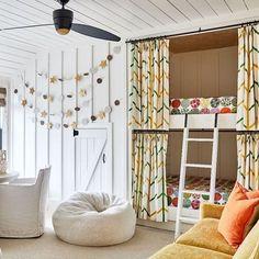 Bunk Beds, Kids Room, Bright, Curtains, Bedroom, Playroom Design, Furniture, Seaside, Lemon
