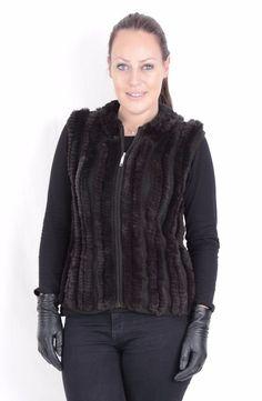US615 New chic Rex Rabbit Fur Vest Rabbit Jacket Coat Kaninchenfell Weste ~ 2XL #Handmade #BasicJacketVest
