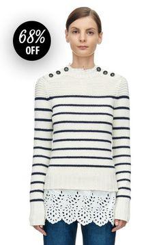 La Vie Cotton Stripe Pullover - now 68% off with code FEB25