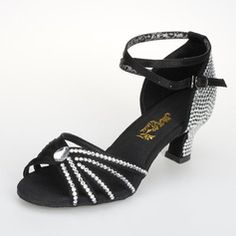 Dance Shoes - $33.39 - Satin Sandals Pumps Latin Ballroom Dance Shoes With Rhinestone Ankle Strap Buckle  http://www.dressfirst.com/Satin-Sandals-Pumps-Latin-Ballroom-Dance-Shoes-With-Rhinestone-Ankle-Strap-Buckle-053026930-g26930