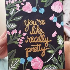 mean girls floral quote canvas art