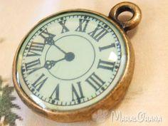 Pocket Watch 【アンティーク 懐中時計ブルーフェイス】ペンダント チャーム Antique ¥790yen 〆05月17日
