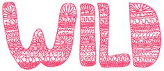 art text boho artwork word banner wild hand-drawn