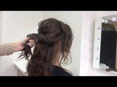 Низкая ракушка. Стильная причёска на волосы средней длины. - YouTube