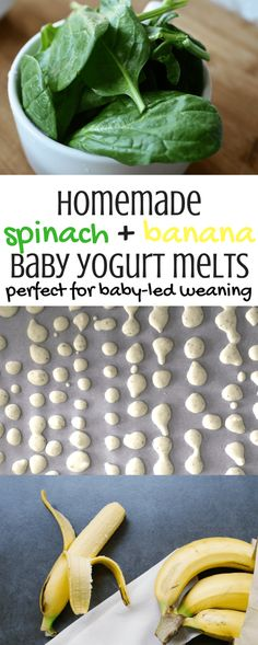 Homemade 3 Ingredient Baby Yogurt Melts | Yogurt Melts | Spinach | Banana | Easy | Healthy | Baby Snack Ideas | Toddler Snacks | Easy Recipes | Baby Recipes | Baby-Led Weaning | 6-10 Month Food Ideas | Baby-Led Weaning Recipes