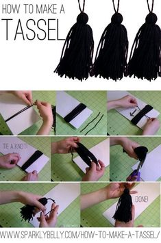 How to Make Tassels (for the graduation hats) Source by Graduation Tassel, Graduation Crafts, Graduation Party Planning, Kindergarten Graduation, Graduation Decorations, Graduation Ideas, Graduation Centerpiece, Graduation Card Boxes, Graduation Cards Handmade