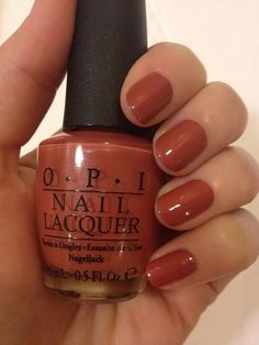 Love this color for fall. OPI Schnapps out of it!