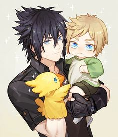 Baby #Prompto and #Noctis