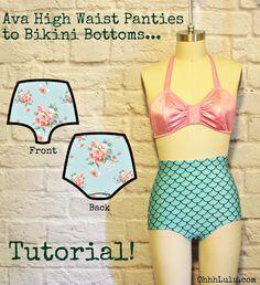 Ohhh Lulu...: Ohhh Lulu Pattern Hacks: Ava High Waist Panties to Retro Bikini Bottoms