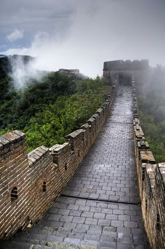 Fog in Great Wall of China