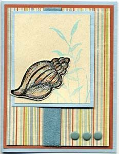 Sea Shell Card, Stamps, & DIY Directions from GreatImpressionsStamps.com