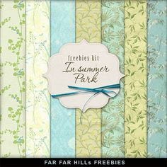 Far Far Hill - Free database of digital illustrations and papers: New Freebies Background Kit - In Summer Park