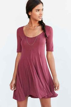 Silence + Noise Beverly Swing Cupro T-Shirt Dress - Urban Outfitters