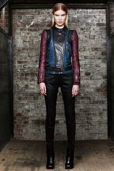 Diesel Black Gold - Pasarela , the jeans have red on the bottom and the jacket is the shit