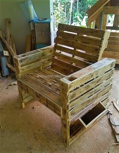 pallet made chair idea