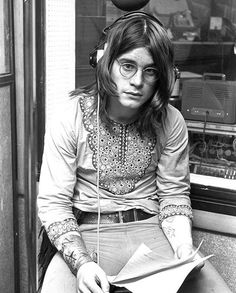 Ozzy Osbourne at the Regent Sounds Studios during the recording of Paranoid, 1970