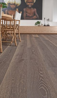Dark and timeless - our exclusive Plantino Engineered Oak (1 Strip wide board - 240mm) in Pompeii will create the perfect foundation for your dining and kitchen area.  Find your favourite species at http://www.choicesflooring.com.au/timber-flooring-range/plantino/?swatch=pompeii-wide-board