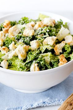 NYT Cooking: Caesar salad, done right, is a bowl full of contrasts: cool, watery leaves against dry, crunchy croutons; sharp lemon against rich cheese, and biting garlic against soothing egg.  Most recipes focus on flavor; this one also unlocks the Caesar's secrets of temperature, texture, heat and umami. Kale and romaine make an ideal combination of greens, but all romaine or all kale...