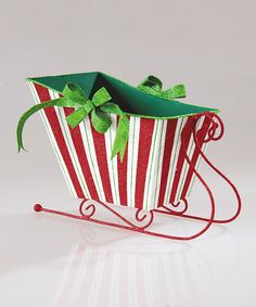Look at this Peppermint Sleigh Figurine on #zulily today!