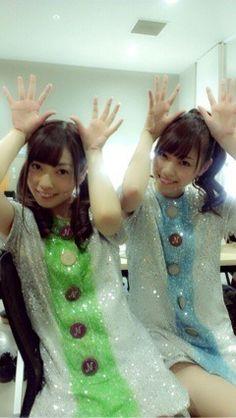 乃木坂46 (nogizaka46) Saito Yuuri (斉藤 優里) and the girl that is too pretty Nishino Nanase (西野 七瀬) >< ♥ ♥ ♥ ♥