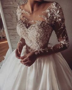 Fall Wedding Dresses If you believe a long-sleeve wedding dress is right for you ahead scroll through my edit of breathtaking varieties of elegant lace long sleeve wedding gowns. Wedding Dress Black, Wedding Dress Sleeves, Long Sleeve Wedding, Dream Wedding Dresses, Bridal Dresses, Wedding Gowns, Wedding Ceremony, Modest Wedding, Long Sleave Wedding Dress