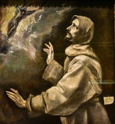El Greco - Saint Francis Receiving the Stigmata, 1890