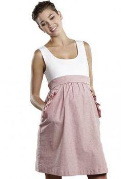 Maternity Seersucker Dress.  Love the casual top and perfect-for-summer seersucker skirt.