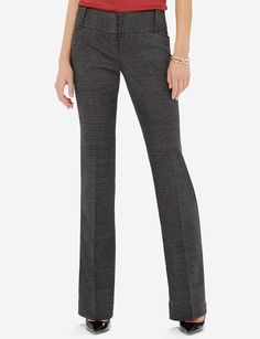 Tweed-Look Cassidy Bootcut Pants | Marled Bootcut Pants | THE LIMITED