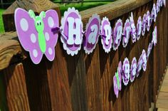 Butterfly Birthday Banner by RandRcreation on Etsy