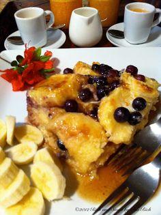 Blueberry Buttermilk Baked French Toast - breakfast for dinner