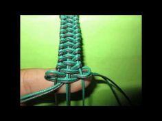 ▶ Pulsera macrame abalorio y cierre - YouTube
