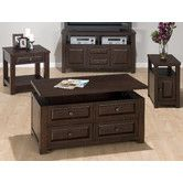 Found it at Wayfair - Jofran Double Header Mobile Coffee Table Set
