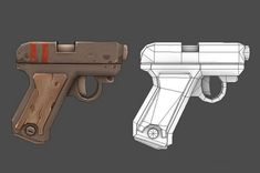 Polycount Forum - View Single Post - Show your hand painted stuff, pls! Polygon Modeling, 3d Modeling, Low Poly Games, 3d Printed Objects, 3d Mesh, Guns, Hand Painted Textures, Low Poly 3d Models, Weapon Concept Art