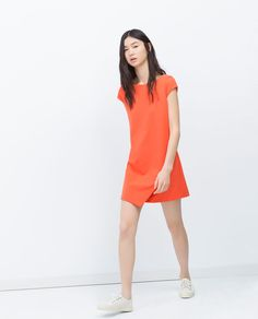 ZARA - WOMAN - DRESS WITH POINTED SKIRT