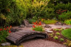 Walking bridge - Landscape Design Ideas, Pictures, Remodel and Decor