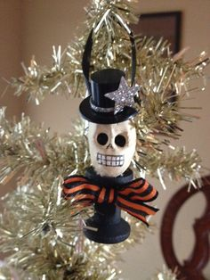 Cute Skull Halloween Decoration for Halloween Party by JeanKnee, $6.00