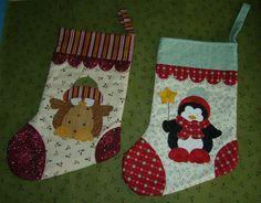 Applique Christmas stockings