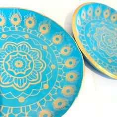 Lots of varnishing happening today at lottie Of London Jewellery | Mandala Ring Dish