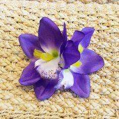 Purple Hawaiian Double Tropical Tiki Orchid by VivaDulceMarina, $9.95