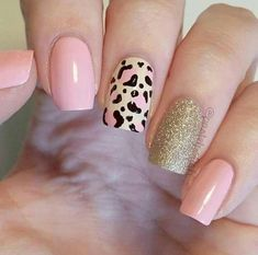 Trendy Animal Print Nail Art Ideas Go through our collection of the best animal print nail art ideas, and get those nails painted now. Pink Nail Art, Cute Acrylic Nails, Pink Nails, Gel Nails, Nail Polish, Shellac, Coffin Nails, Stylish Nails, Trendy Nails